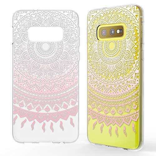NALIA Hülle kompatibel mit Samsung Galaxy S10e, Motiv Handyhülle Slim Silikon Case Cover Schutzhülle Dünn Durchsichtig, Etui Handy-Tasche Backcover Transparent Bumper, Designs:Mandala Pink