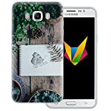 dessana Frühling transparente Silikon TPU Schutzhülle 0,7mm dünne Handy Soft Case für Samsung Galaxy J7 (2016) Schmetterling Garten