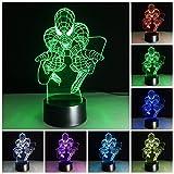 Spader man 3D Illusion LED Lampe, USB Nachlichter 7 Farbwechsel 3D Effekt LED Nachlampe schreibtischlampe Kreativ Leuchten Spider Tischleuchte Dekoratives Licht für Kinder Jungen Geschenk für Sohn