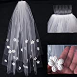Naisicantar - Codo de novia para novia, 1 catedral, 2 capas, color blanco