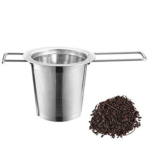 iLoveCos Teesieb Edelstahl Teefilter für Tee-Schalen Tasse und Töpfe hochtwetiges Tee-Ei für Loseblatt