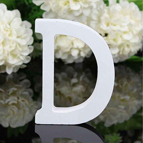 lzbuchstaben Alphabet Wandbehang Hochzeit Home Shop Dekoration ()