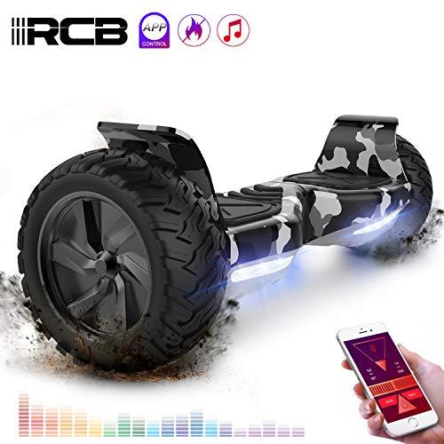 rcb hoverboard scooter elettrico fuoristrada scooter 8.5'' hummer led app bluetooth integrato con motore potente 2 * 350w