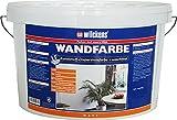 innen Wandfarbe weiss waschfest inkl. 4x 5m Abdeckfolie und Nitrilhandschuhe (Wandfarbe waschfest 2,5 Liter)