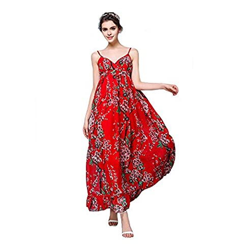 Years Calm - Robe - Trapèze - Sans Manche - Femme rouge Red - rouge - 34