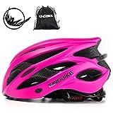 KING BIKE Fahrradhelm Helm Bike Fahrrad Radhelm FüR Herren Damen Helmet Auf Die Helme Sportartikel Fahrradhelme GmbH RennräDer Mountain Schale Mountainbike MTB (Rose rot, L(56-60CM))
