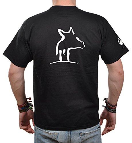 T-Shirt Herren Eidos Sau - Jäger T-Shirt Sau Wildschwein Schwarz