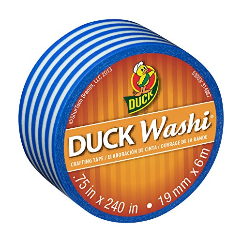duck-brand-washi-crafting-tape-075-inch-by-240-inch-roll-single-roll-blue-stripe-282682-s-by-duck
