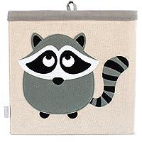 Preisvergleich für Aufbewahrungsbox für Kinder aus Leinen von Grey Bee, mit Tiermotiven, Organiser, 33 x 33 x 33 cm