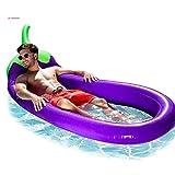 YOUYONGSR 207 cm 81 cm Aufblasbarer Riesen Aubergine Pool Float Mattresswater Party Spielzeug Sonnen Bed Schwimmen Ring Kreis Strandmatte