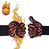 WOTEK Grillhandschuhe, Hitzebeständig Ofenhandschuhe Bis zu 800 ° C Grillhandschuhe Feuerfeste Handschuhe, Premium Kochhandschuhe für BBQ, Kochen, und Backen, 36cm Lang
