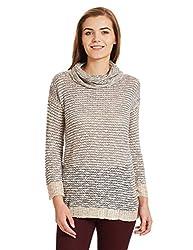 US POLO Womens Cotton Sweatshirt (UWFL0150_Blue_Medium)