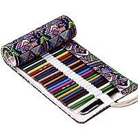 Tinksky Tela colorata matita matita caso 72 Roll Wrap per Set di matite colorate (72 slot matita Wrap)