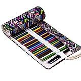 WINOMO 72 farbige Bleistift Up Leinwand Wrap Beutel Rollenhalter für Gen Stifte farbige Stifte Set (Bleistifte sind nicht im Preis inbegriffen)