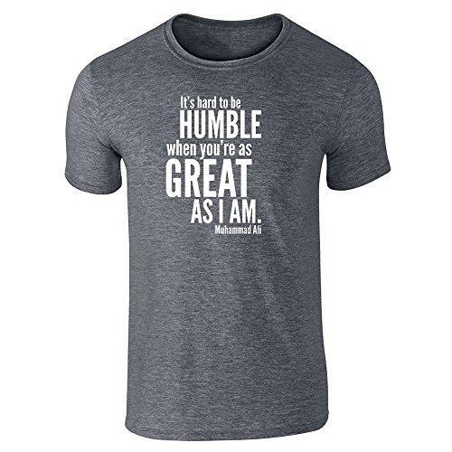 Pop Threads Herren T-Shirt - Dark Heather Gray