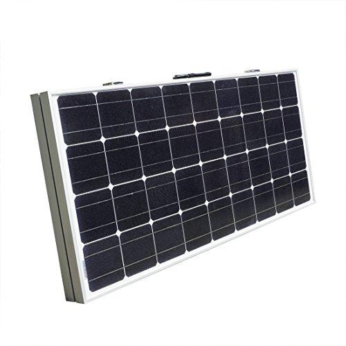 Eco-Worthy, tragbares Solarpanel, 12V Photovoltaik-Solarzelle, für Wohnwägen und Boote, mit Batterielade-Set -