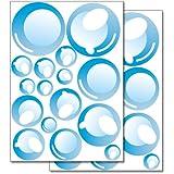 """Adesivi da parete Wandkings """"Bolle di sapone"""" Set adesivi - 32 adesivi su 2 fogli DIN A4"""