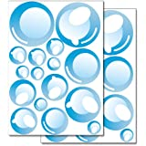 Pegatinas para la pared Wandkings «Pompas de jabón» - Juego de adhesivos de 32 unidades en 2 hojas DIN A4