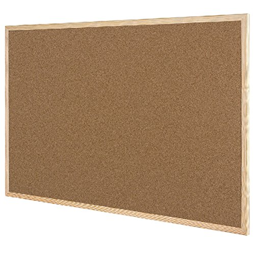 Q-Connect Wooden Frame 900 x 1200 mm Cork Board