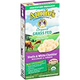 Annie's - orgánica Grass Fed macarrones & cáscaras de queso Cheddar blanco - 6 oz.