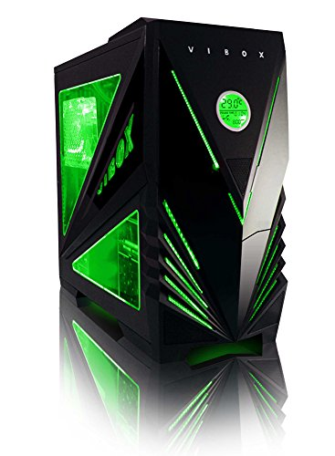 "VIBOX Sniper 10XS PC Gamer Ordinateur avec Jeu Bundle, 22"" HD Écran (4,2GHz Intel i7 Quad-Core Processeur , Nvidia GeForce GTX 1060 Carte Graphique, 8GB DDR4 RAM, 120GB SSD, 2TB HDD, Sans OS)"