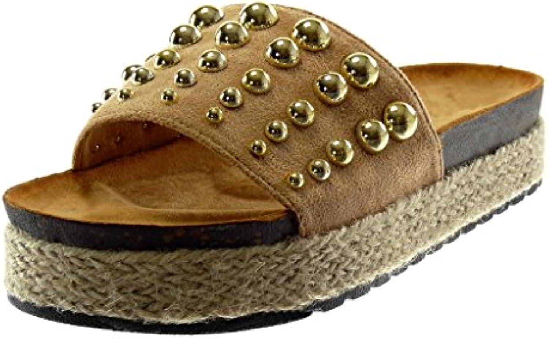 403388163 Angkorly Studded Women's Fashion 4 Shoes Mules Sandals - Wedge Slip-on -  Platform - Pearl - Studded - Cord Wedge Platform 4 cm B07C7FVP8W Parent  0573f29 ...