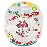 SET MICRO BEBÉ 2 PIEZAS (CUENCO Y CUCHARA) Minnie Mouse COLOR BOWS