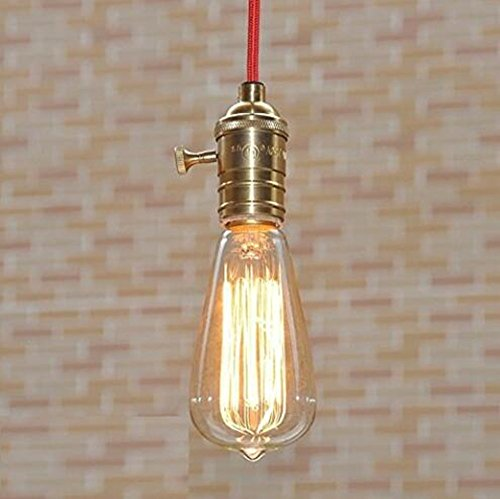 Running Fish 3 Pack E27 60W ST64 Vintage Edison Glühlampe Filament Fadenlampe Edison Lampe Vintage Stil Glühbirne Squirrel Cage Retro Lampe Antike Beleuchtung 220V [Energieklasse A] - 4