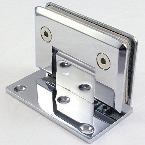 Di Vapor (R) - Cerniera a 90° per porta a vetro per doccia a muro, cromata, Si