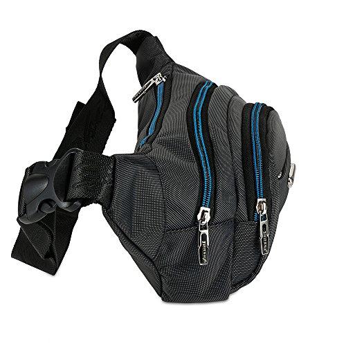 Skysper Hüfttasche Outdoor Sporttasche Brust Oxford Gürteltasche der Geldbeutel Männer Blau