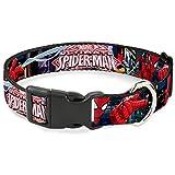 Buckle Down Katzenhalsband, mit Schnappverschluss, Design The Ultimate Spiderman Swinging City Poses