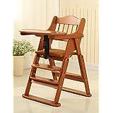 XWZ Sillas de bebé de madera maciza plegable bebé portátil comedor de mesa de los niños sillas de bebé comedor silla Varios ( Color : B , Tamaño : 2 )