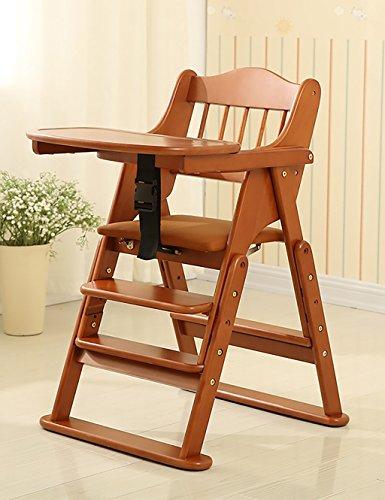 Portable Baby Hochstuhl Folding (XWZ Baby Stühle Massivholz Folding Portable Baby Esstisch Kinder Stühle Baby Esszimmerstuhl Verschiedene ( Farbe : B , größe : 2 ))