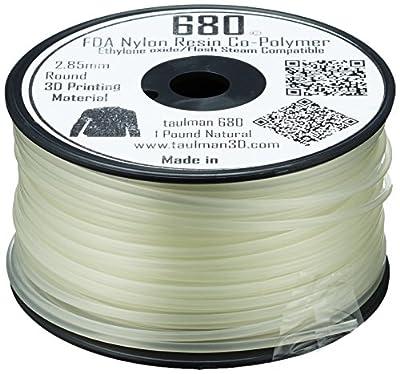 Taulman 10524 Print Filament, Nylon 680, 2.85 mm, 450 g