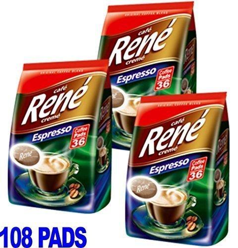 Philips Senseo 108 x Cafe Rene Cremé Espresso Geröstet Kaffee Kissen Schoten Bag