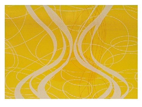 Friedola 25608 Miami Tischläufer Gelb/Weiß 150x40cm (FP35)