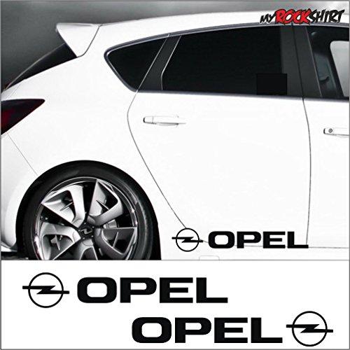 2-x-Opel-Logo-ca30x8cm-Aufkleber-Testaufkleber-Estrellina-Glckstern