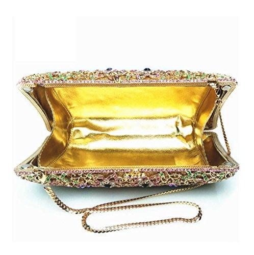 Diamanti Di Lusso Di Sera Borsa Borsa Di Diamante Delle Donne Yellow