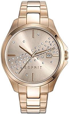 Esprit Mujer Reloj De Pulsera es de Cecilia Rose Oro analógico de cuarzo Acero inoxidable revestimiento es108432003