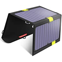 X-DRAGON 20W Solar-Ladegerät 2 USB-Ports Tragbares Solarpanel-Handy-Ladegerät für Smartphone, Tablets, Outdoor, Camping