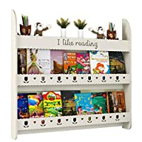 GAOQQI-Sling Bookshelf Wall-mounted Wall Shelf 3 Layers Large Capacity Punch Free Save Space, 4 Colors, 3 Sizes (Color : White, Size : 60X12X95cm)