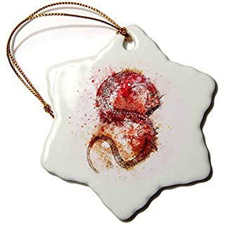 Sandy66Twain Watercolor Dragon Fantasy Monster Asia Symbol Ceramic Christmas Tree Hanging Ornaments Xmas Gifts For Friends Kids Women