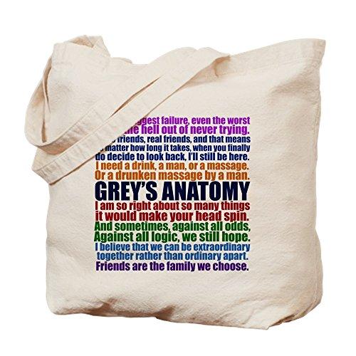 CafePress–Grey 's Anatomy Collage–Leinwand Natur Tasche, Reinigungstuch Einkaufstasche S khaki