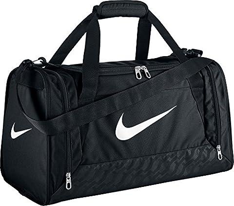 Nike Unisex Brasilia 6 Duffel Bag - Black/White, Small