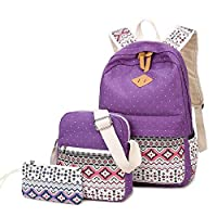 TYUIO Casual Canvas Backpack Daypack Travel Shoulder Bag School Satchel for Teenage Girls and Boys (Color : Style E)