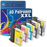 PlatinumSerie® 40 Druckerpatronen XXL mit Chip kompatibel für Brother LC985 Black Cyan Magenta Yellow