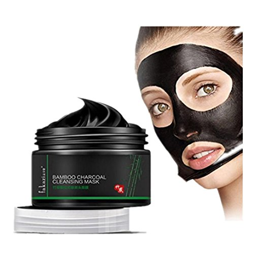 120g Black Mud Deep Cleansing Pilaten Blackhead Remover Purifying Peel Face Mask Bottle Skin Care Products Suit For Women And Men Lanspo (A)