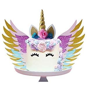 SUNSHINETEK Unicorn Cake Topper Set
