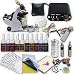 Complete 1 Tattoo shader 10 Color Inks Power Supply Set Beginner Tattoo Kits
