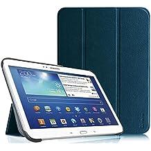Fintie Samsung Galaxy Tab 3 10.1 Funda - Ultra Slim Smart Case Funda Carcasa con Stand Función y Auto-Sueño / Estela para Samsung Galaxy Tab 3 10.1 pulgadas P5200 / P5210 (Azul Oscuro)